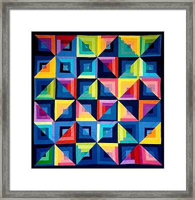 Colour Play Quilt Framed Print