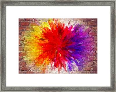 Colour To Lift Your Soul Framed Print