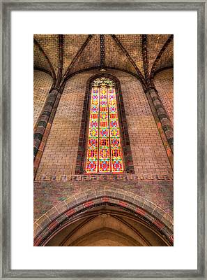 Coloured Glass In The Church Of The Jacobins In Toulouse Framed Print