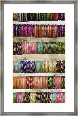 Coloured Glass Indian Bangles Framed Print