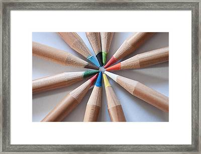 Coloured Pencils 2 Framed Print