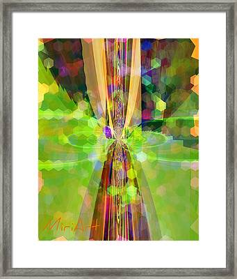 Framed Print featuring the photograph Colourful 1 by Miriam Shaw