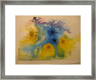 Framed Print featuring the drawing Colourful by AJ Brown