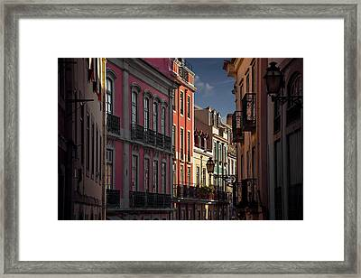 Colourful Architecture In Lisbon Portugal  Framed Print by Carol Japp