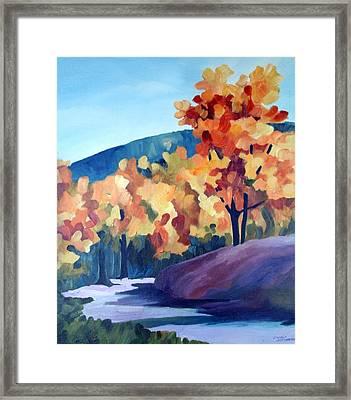 Colourful Autumn Framed Print by Carola Ann-Margret Forsberg