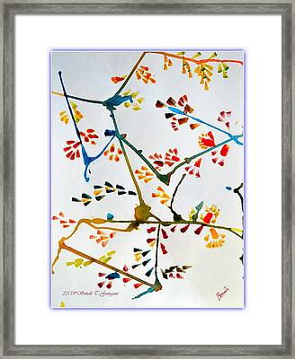Colourful Blossoms Framed Print by Sonali Gangane