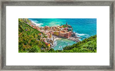 Colourful Cinque Terre Framed Print by JR Photography
