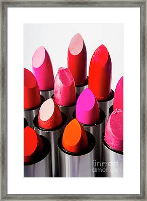 Colourful Cosmetic Still Life Framed Print