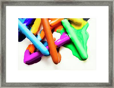 Colourful Crayon Art Framed Print
