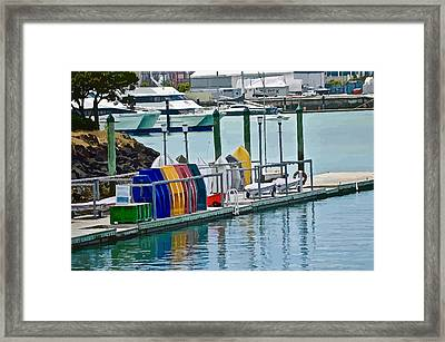 Colourful Dinghies Auckland Framed Print