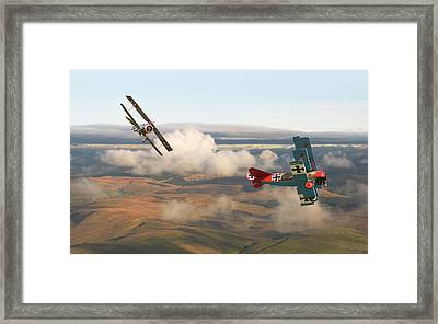 Colourful Encounter Framed Print