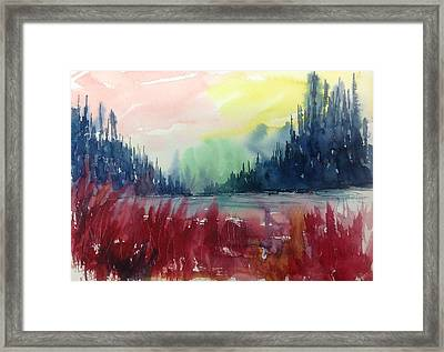 Colourful Forest No.1 Framed Print