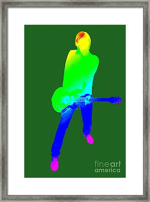 colourful guitar player. Music is my passion Framed Print by Ilan Rosen