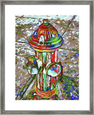 Colourful Hydrant Framed Print