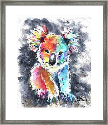 Colourful Koala Framed Print