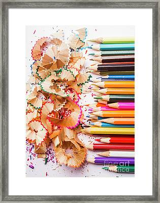 Colourful Leftovers Framed Print