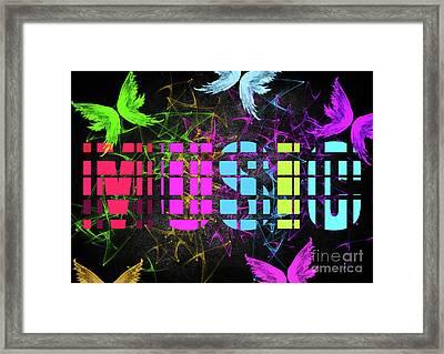 Colourful Music 2 Framed Print by Prar Kulasekara