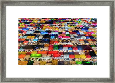 Framed Print featuring the photograph Colourful Night Market by Pradeep Raja Prints