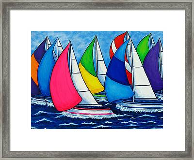 Colourful Regatta Framed Print