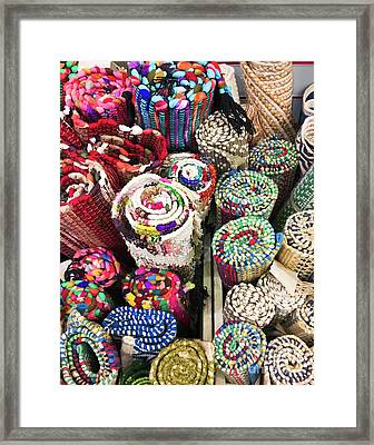 Colourful Rugs Background  Framed Print by Tom Gowanlock