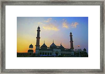 Colourful Sunset At Monument Framed Print