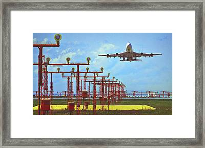 Colourful Take-off Framed Print