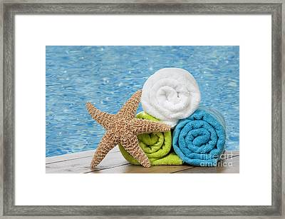 Colourful Towels Framed Print by Amanda Elwell