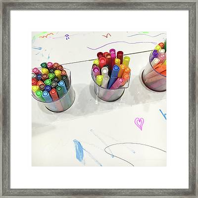 Colouring Pens Framed Print by Tom Gowanlock