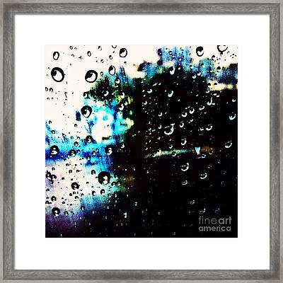 Colours In The Rain Framed Print by Tiffany D Randle