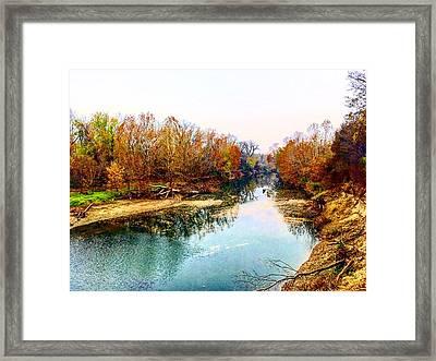 Colours Along Mill Creek Framed Print
