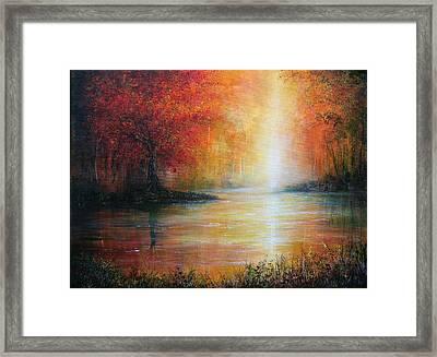 Colours Of Autumn Framed Print by Ann Marie Bone