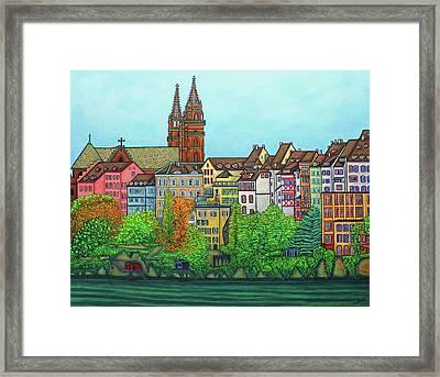 Colours Of Basel, Switzerland Framed Print by Lisa Lorenz