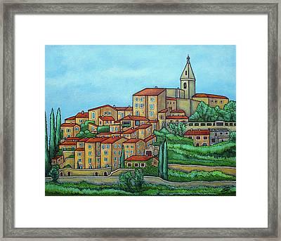 Colours Of Crillon-le-brave, Provence Framed Print by Lisa Lorenz