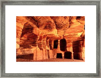 Colours Of Petra Framed Print by Paul Cowan