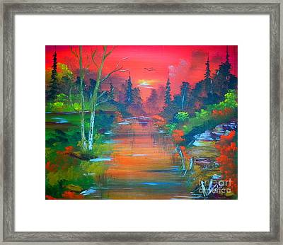 Colours Of Sunrise Framed Print by Collin A Clarke