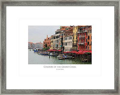 Framed Print featuring the digital art Colours Of The Grand Canal by Julian Perry