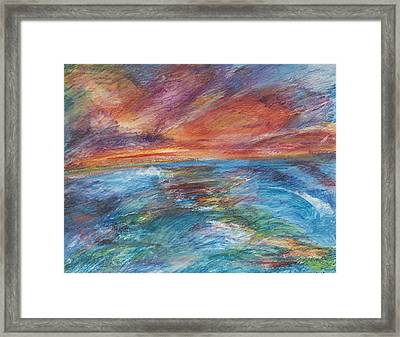 Colours Of The Sea 8 Framed Print