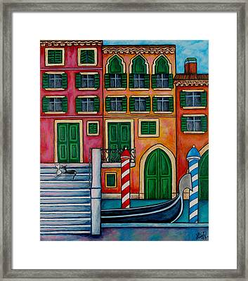 Colours Of Venice Framed Print by Lisa  Lorenz