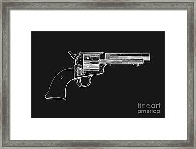 Colt Peacemaker Tee Framed Print by Edward Fielding