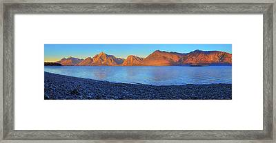 Colter Bay Panorama Framed Print