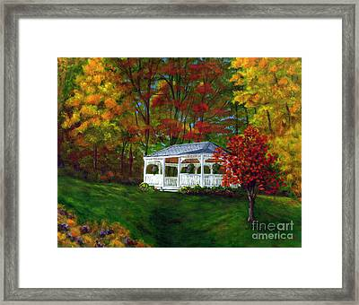 Colton Gazebo Framed Print by Judy Filarecki