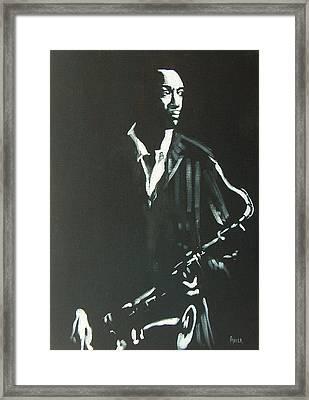 Coltrane Framed Print by Pete Maier