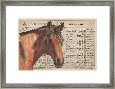 Colts Records Prince Dastan By Kmcelwaine Framed Print