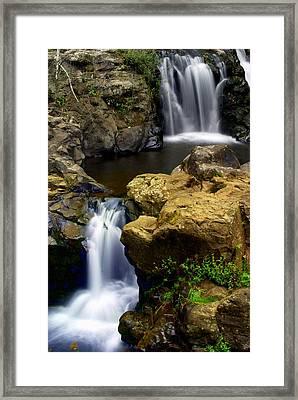 Columba River Gorge Falls 2 Framed Print by Marty Koch