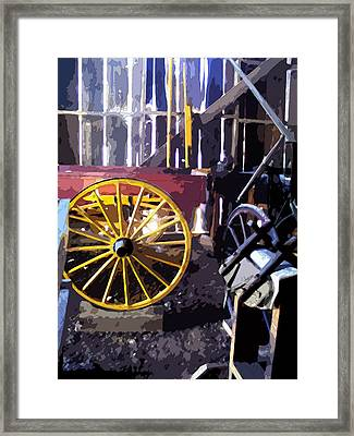 Framed Print featuring the photograph Columbia Barn by Larry Darnell