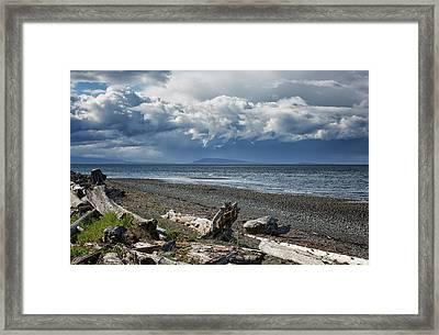 Columbia Beach Framed Print by Randy Hall