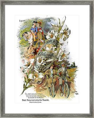 Columbia Bicycles Poster Framed Print by Granger
