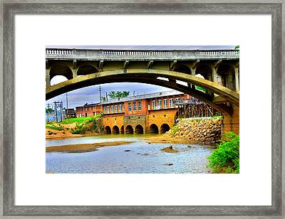 Columbia Canal At Gervais Street Bridge Framed Print