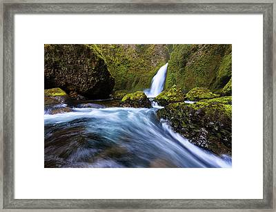 Framed Print featuring the photograph Columbia Cascade by Mike Lang