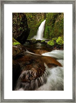 Framed Print featuring the photograph Columbia Cleft by Mike Lang